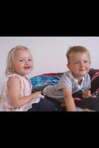 Jeanettes børnebørn - Lucia og Luca