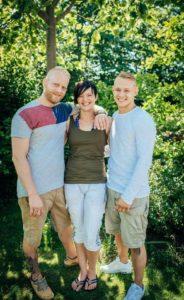 Tines børn - Stefan, Heidi og Casper.